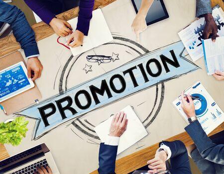 商業広告の概念をブランディング促進マーケティング 写真素材