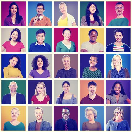 headshot: Community Diversity Group Headshot People Concept Stock Photo