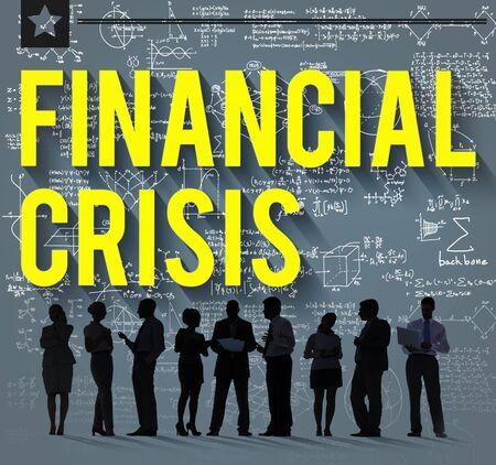 banking crisis: Financial Crisis Accounting Banking Economics Concept Stock Photo
