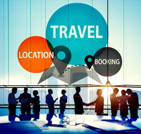 travel location: Travel Location Booking Destination Trip Adventure Concept