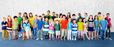 ethnic diversity: Children Kids Childhood Friendship Happiness Diversity Concept Stock Photo