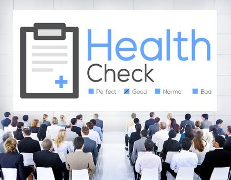 Health Check diagnosi Condizione Medica Analisi Concetto Archivio Fotografico - 44075158