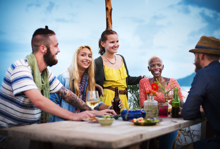 Diverse Ethnic Friendship Party Leisure Happiness Concept Stock fotó