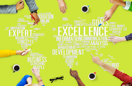 perfection: Excellence Expertise Perfection Global Growth Concept