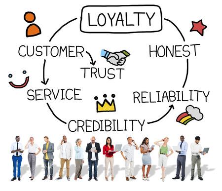 Loyalty Customer Service Trust Eerlijk Betrouwbaarheid Concept Stockfoto