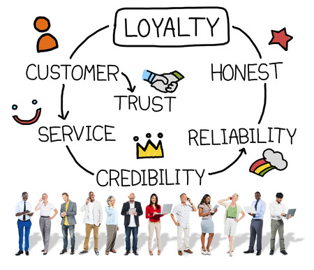 Loyalty Customer Service Trust Honest Reliability Concept Banco de Imagens