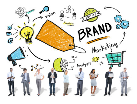 Diverse Business People Marketing Brand Concept