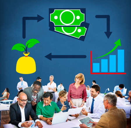 investment solutions: Invest Investment Accounting Money Financial Concept Stock Photo