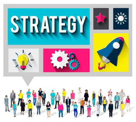 creativity: Strategy Start up Creativity Inspiration Launch Concept Stock Photo