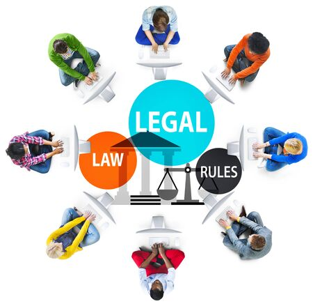 social gathering: Legal Law Rules Community Justice Social Gathering Concept Stock Photo