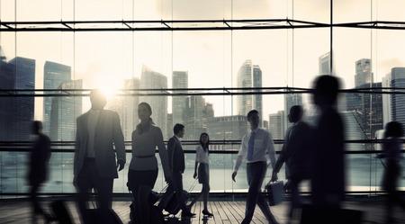 voyage: Voyage d'affaires banlieue d'entreprise Cityscape voyage Concept