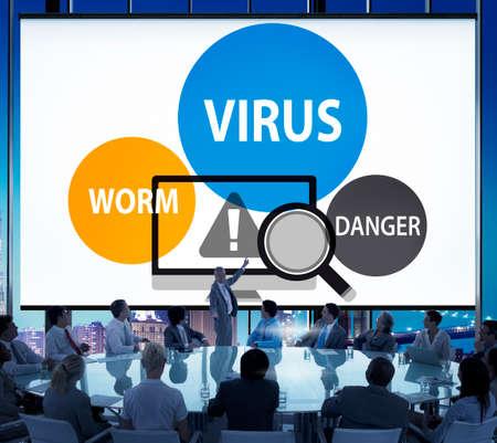 phishing: Virus Internet Security Phishing Spam Concept