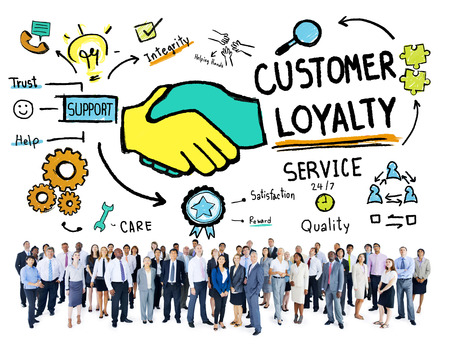 excellent service: Customer Loyalty Service Support Care Trust Business Concept