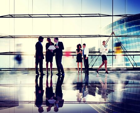 corporate buildings: Business People Corporate Connection Discussion Meeting Concept Stock Photo