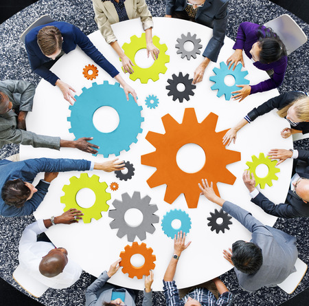 business casual: Business Casual Teamwork Support Strategy Planning Concept