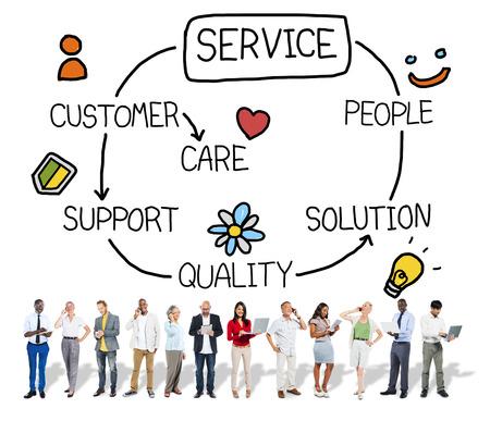satisfaction client: Satisfaction Service � la client�le Soutien Hospitality Concept Banque d'images