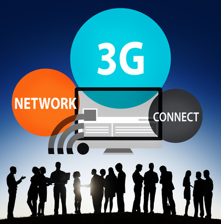 3g: 3G Networking Technology Innovation Connection Concept