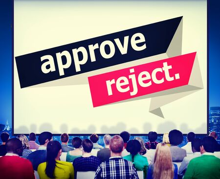 approve: Approve Reject Cancelled Decision Selection Concept