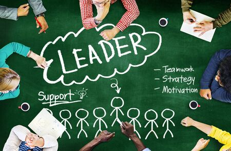 leading education: Leader Support Teamwork Strategy Motivation Concept