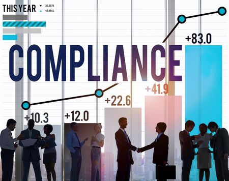 procedure: Compliance Procedure Regulations Risk Strategy Concept Stock Photo