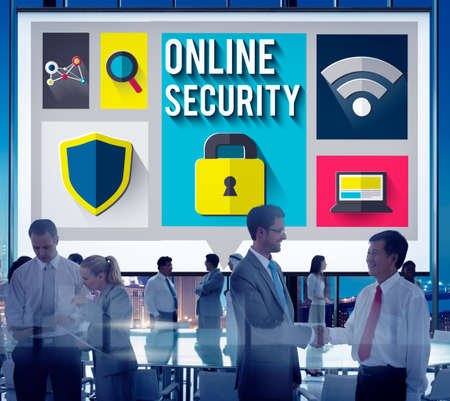 security protection: Online Security Protection Password Privacy Data Concept