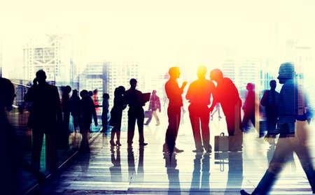 conversation: Business People Talking Connection Conversation Concept