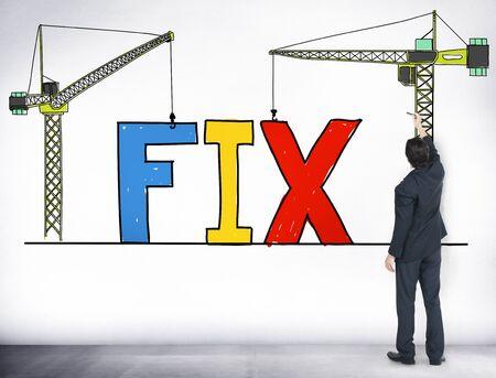 the maintenance: Fijar Solución de reparación mecánica de Técnico de Mantenimiento Concepto