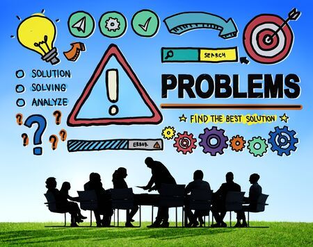 financial obstacle: Problems Trouble Difficulty Failure Challenge Concept