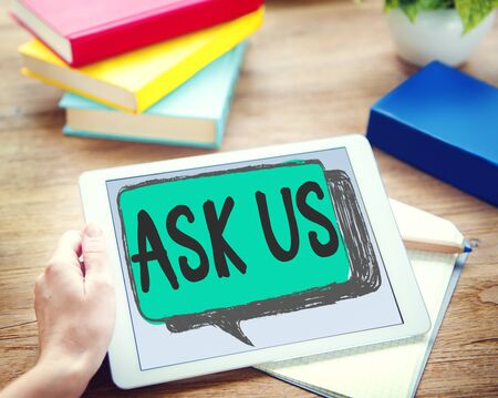 advies: Ask us Contact Information Assistance Advice Concept