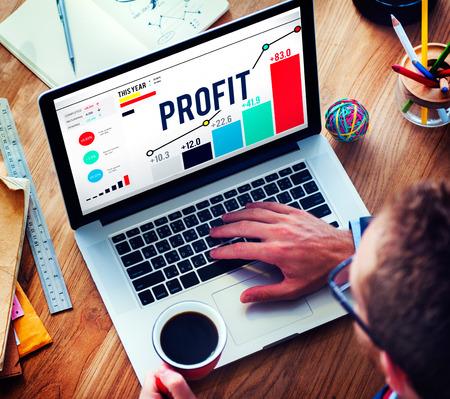 benefits: Profit Benefit Financial Income Growth Concept