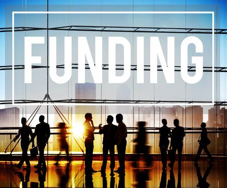 Financement Finances Fundrising Global Business Invest Concept Banque d'images - 44116165