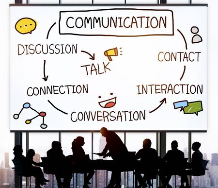 Communicatie Discussie Contact Gesprek Concept Stockfoto