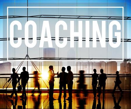 webinar: Coach Coaching Skills Teach Teaching Training Concept Stock Photo