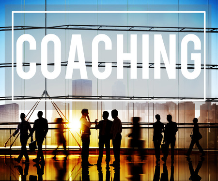 Coach Coaching Skills Teach Teaching Training Concept Foto de archivo
