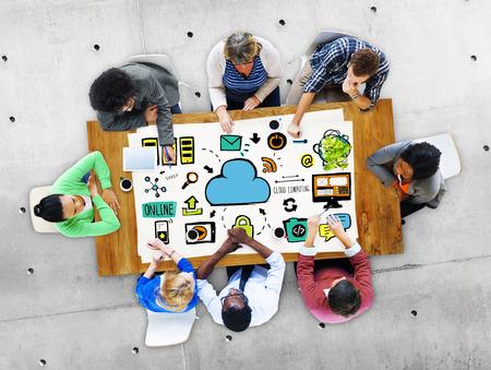 cloud computing: Cloud Computing Network Online Internet Storage Concept
