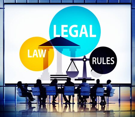 Legal Law Rules Community Justice Social Gathering Concept Stock Photo
