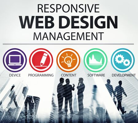 web: Responsive Web Design Management Programming Concept