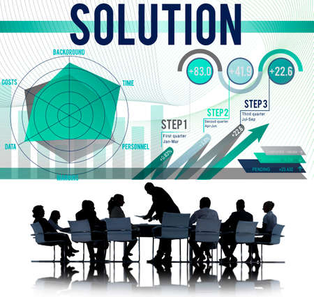 business strategy: Solution Problem Solving Business Strategy Concept Stock Photo