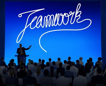 reuniones empresariales: Trabajo en equipo Team Collaboration Soporte de usuario Unidad Concepto