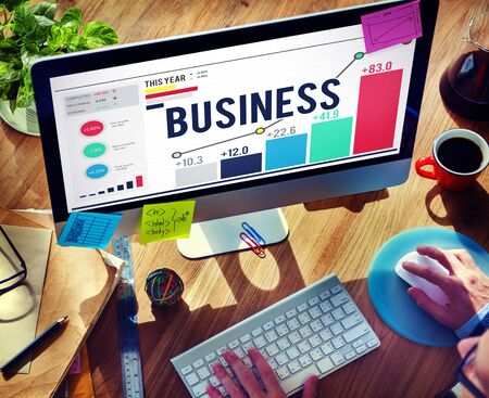 business direction: Business Startup Corporate Enterprise Company Concept Stock Photo