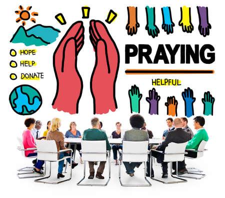 worshipper: Pray Praying Hope Help Spirituality Religion Concept