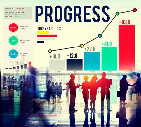 finance concept: Progress Strategy Success Motivate Development Growth Concept