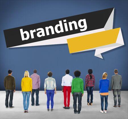 brand identity: Branding Brand Trademark Identity Advertising Label Concept Stock Photo