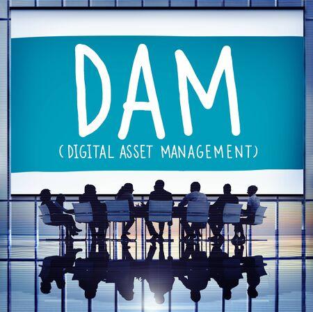 DAM Digital Asset Management Organization Concept Stock Photo