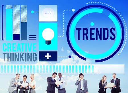trending: Trends Fashion Marketing Contemporary Trending Concept Stock Photo