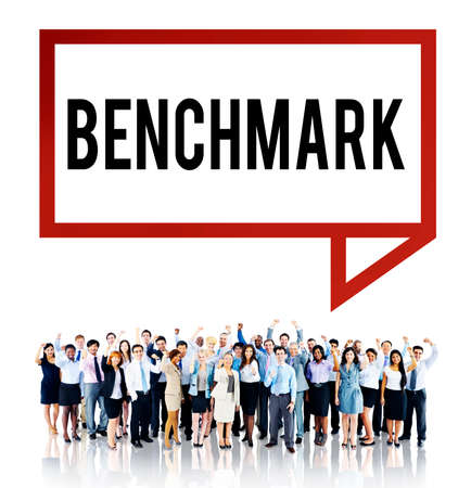 benchmark: Benchmark Standard Management Improvement Benchmarking Concept Stock Photo