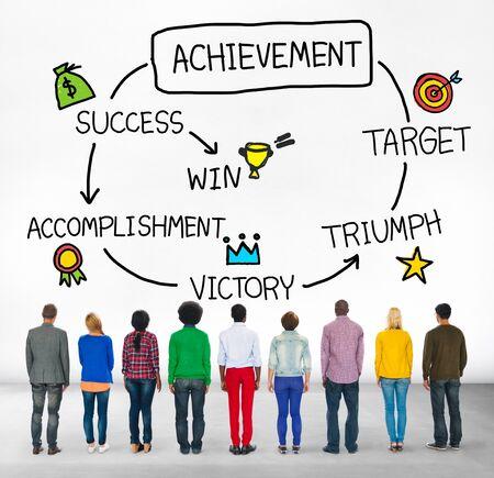 accomplishment: Achievement Target Accomplishment Goal Success Concept Stock Photo