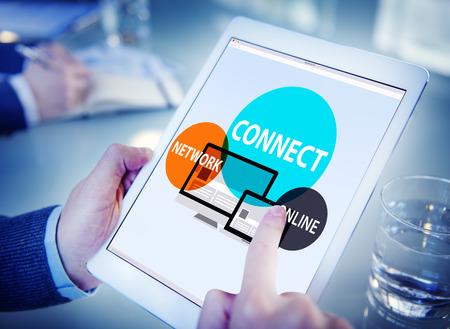 aprendizaje: Conecte Concepto Web Red Integrada Online