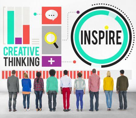 inspire: Inspire Inspiration Immagination Motivation Optimistic Concept Stock Photo