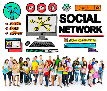 social network: Social Network Social Media Internet WWW Web Online Concept